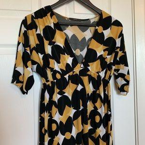 🆓Empire Waist 3/4 length sleeve mid length dress
